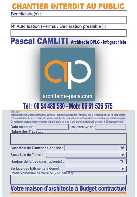 Panneau Permis De Construire Affichage Permis De Construire Panneau Obligatoire Article A 424