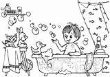 Hygiene Coloring Pages sketch template