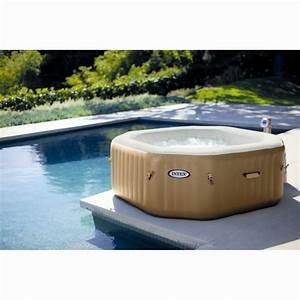 Spa En Bois Pas Cher : spa gonflable bulles intex octogonal 4 places beige ~ Premium-room.com Idées de Décoration