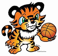 Image result for tiger with a basketball