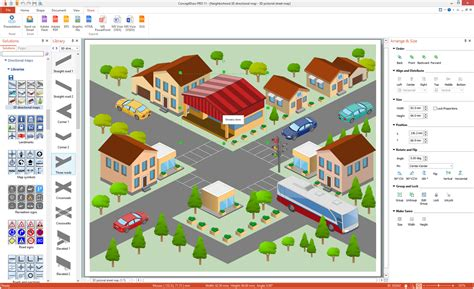 directional maps solution conceptdrawcom