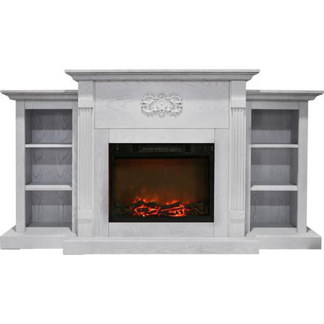 Hanover Classic 72 In Electric Fireplace In White With