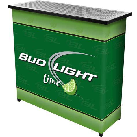 Trademark Bud Light Lime 2shelf Green Bar With Case