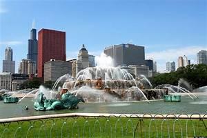 Buckingham, Fountain, Panorama, Chicago