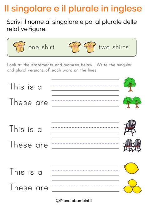 homework verbo singolare  plurale