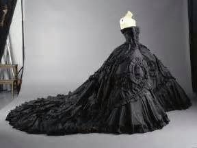 black gowns for wedding couture or costume the black wedding dress 1st on trend