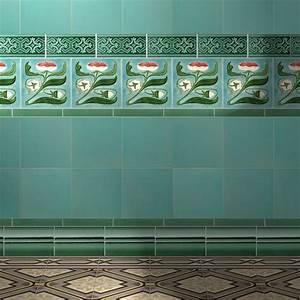 885 best tiles images on pinterest tiles tiling and With art nouveau bathroom tiles