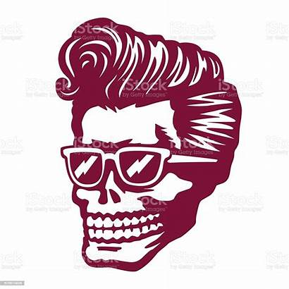 Rockabilly Skull Cool Vector Sunglasses Face Zombie