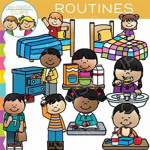 Kids Routines Clip Art , Images & Illustrations | Whimsy Clips