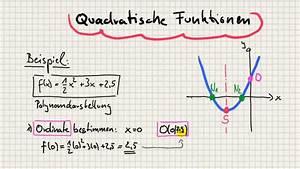 Nullstellen Berechnen Quadratische Funktion Aufgaben : quadratische funktionen ordinate nullstellen scheitel und skizze youtube ~ Themetempest.com Abrechnung