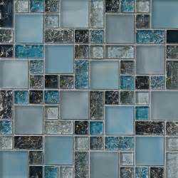 blue tile kitchen backsplash sample blue crackle glass mosaic tile backsplash kitchen backsplash sink wall ebay