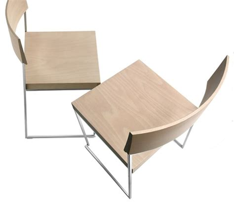 sled base stackable wooden chair cuba by lapalma design