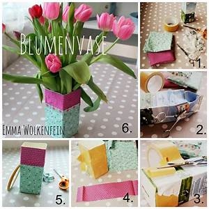 Aufbewahrungsbox Für Kinder : blumenvase aus einer milchpackung handmade kultur ~ Whattoseeinmadrid.com Haus und Dekorationen