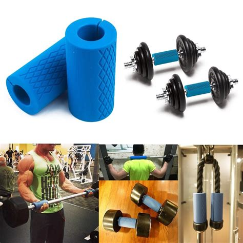 grip handle barbell dumbbell grips lifting kettlebell weight bar pull gym weightlifting slip lift pair thick anti workout silicon pads