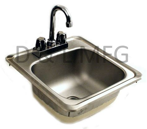 Bar With Sink by Bar Sink With Faucet And Strainer 15 X 15 Ebay