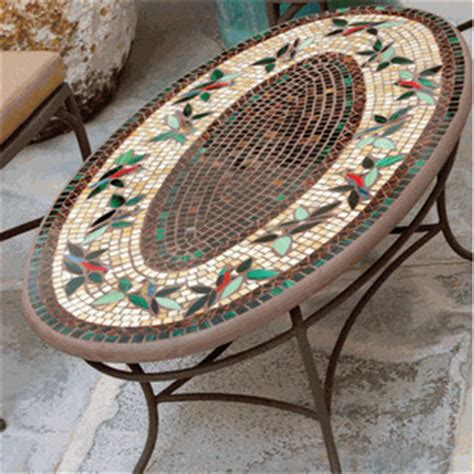 iron mosaic coffee table traditional outdoor coffee