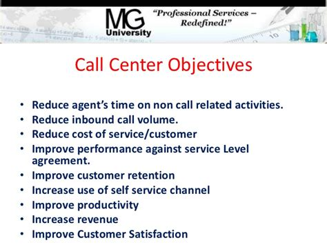 Call Center Objectives by Call Center Process Management 101