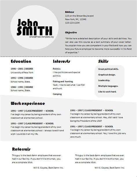 Ciri Ciri Cv Ekonomi by Curriculum Vitae Format Doc Free 28 Images Free Resume Templates Blank Format For Curriculum