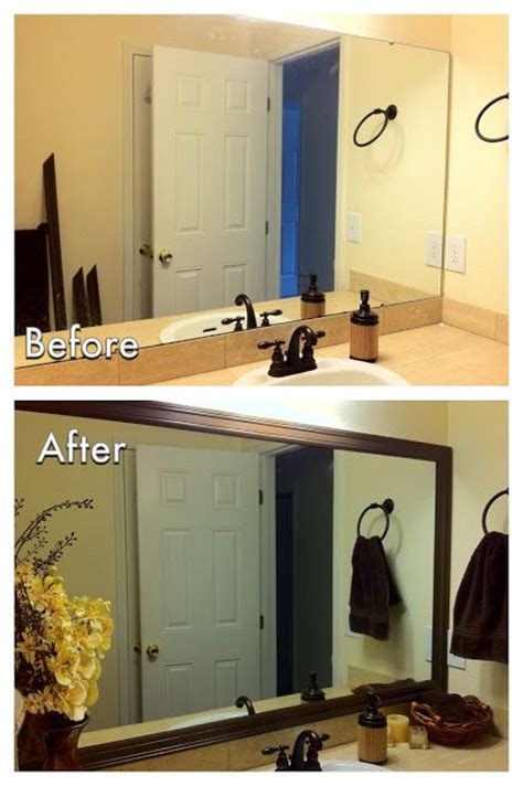 diy bathroom mirror frame for less than 20 need to do