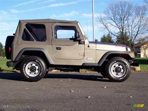 jeep metallic light khaki metallic 2004 jeep wrangler se 4x4 exterior
