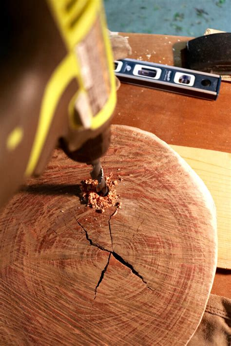 drilling holes in christmas tree make a green reclaimed scrap wood tree homejelly