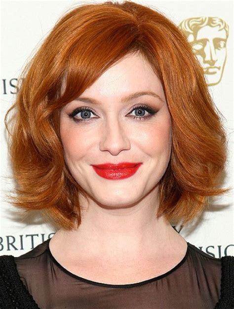 christina hendricks short red bob haircut for 2014