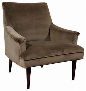 Vintage Velvet Mid-Century Armchair - Traditional