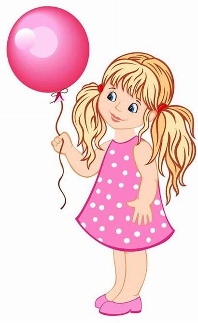 Clipart Doll Clip Balloons Balloon Pink Muneca