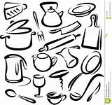 Kitchen Tools Sketch Vector sketch template