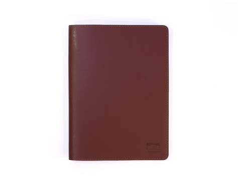 protege bureau protège cahier a4 en cuir gris fer