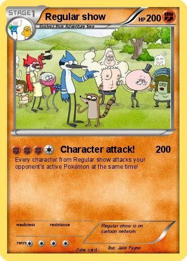 Pokémon Regular Show 65 65 Character Attack My