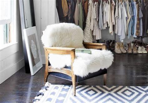 Sheepskin Throws As Chair Covers