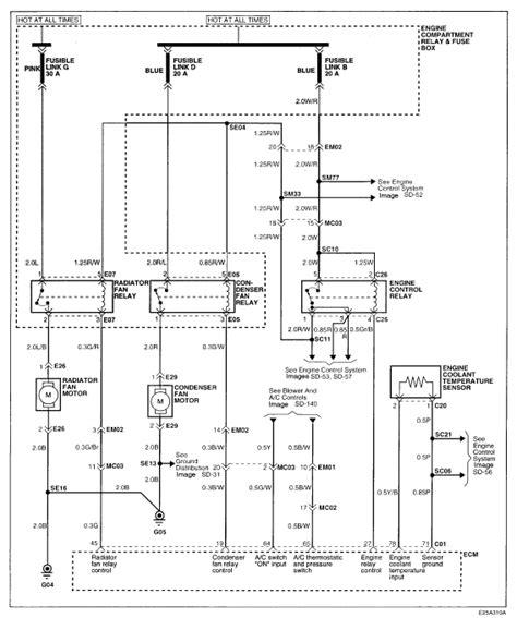 Wiring Diagram On 2000 Elantra by I A 2000 Hyundai Elantra I Had The Radiator