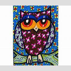 Owl Art Print Art For Children Kids Wall Art Girls Room