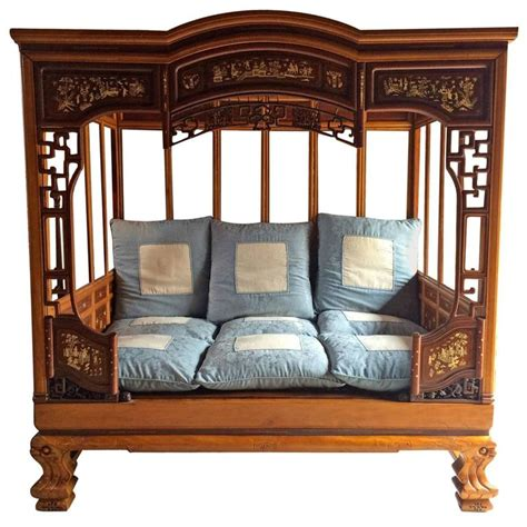 chinees bed opium bed daybed asian mid 20th century