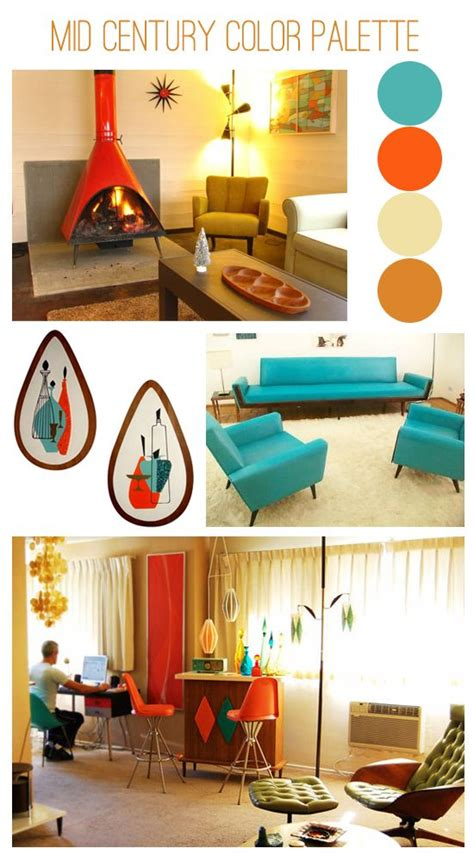 modern home interior color schemes 1000 images about color palette mid century on