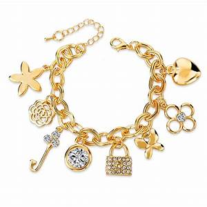 Charm Bracelets Gold Plated -Assorted Styles