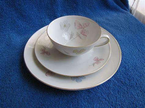 bavaria tirschenreuth germany germany bavaria tirschenreuth tea pair cup saucer plate 3 pcs white blue gold bavaria cups