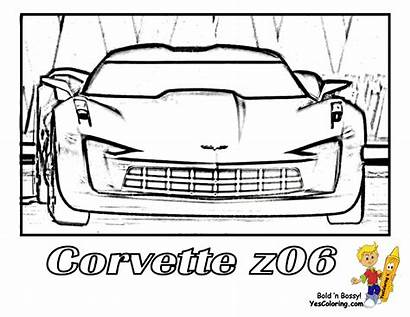 Corvette Coloring Pages Z06 Printable Cars Side