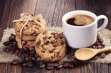 Find images of cookie background. Coffee and Chocolate Chip Cookies (yum) 4k Ultra HD Wallpaper | Background Image | 4288x2848 ...