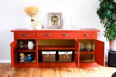 planked wood sideboard diy furniture plans diy