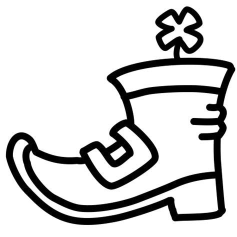 boot shoe clover leprechaun buckle shamrock irish icon