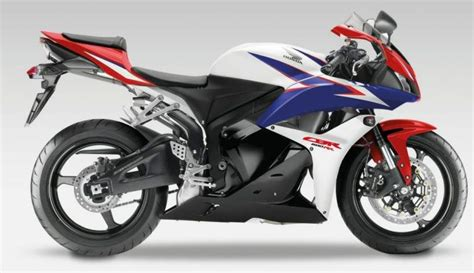 Honda Cbr 600rr 2010 White Red Blue Decal Kit By Motodecal.com