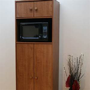 Microwave pantry cabinet with microwave insert at hayneedle for Microwave pantry cabinet with microwave insert white
