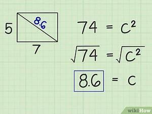 Diagonal Berechnen : die diagonale in einem rechteck berechnen wikihow ~ Themetempest.com Abrechnung