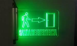 Señalización Luminosa Led Señalética De Seguridad 9'' $ 299 00 en Mercado Libre