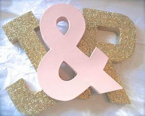 glittered letters wedding decor and home decor self With self standing letters