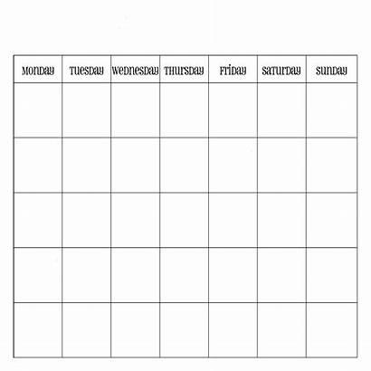 Calendar Blank Template Printable Monthly Calendars Pdf