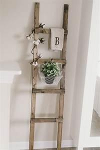 Diy, Rustic, Ladder, With, Furring, Strips