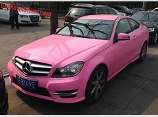 MercedesBenz CKlasse Coupe in Pink im Hello Kitty Style
